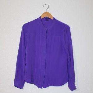 THEORY purple silk blouse